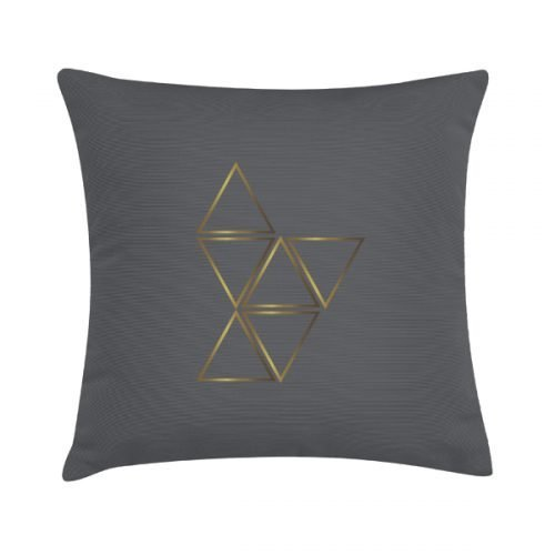 Eco Design Kussen Brass Triangles 45x45
