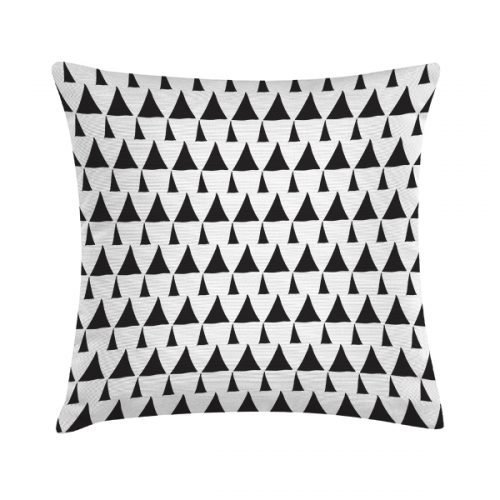 Eco Design Kussen Dram Triangles Pattern White 45x45
