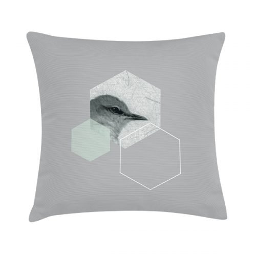Eco Design Kussen Sring Bird Hexagon 45x45
