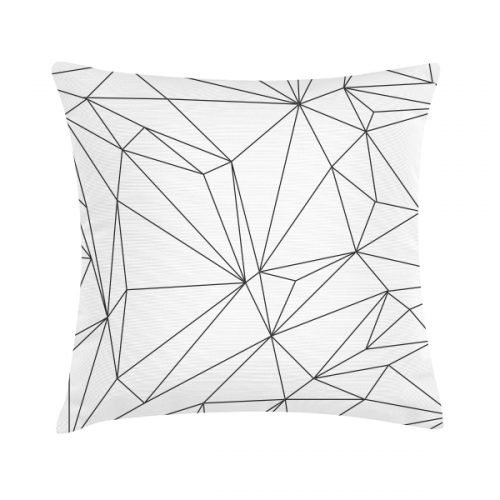 Eco Design Kussen White Geometric 45x45