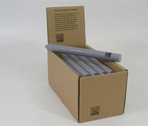 FairForward Dinerkaars light grey palmolie 23cm set/25