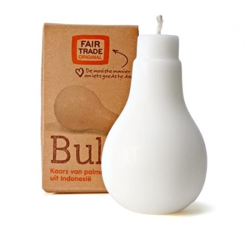 FairForward Kaars 'Bulb' wit palmolie
