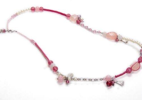 FairForward Kett. Roze Bedels Touw/Stn/Gls