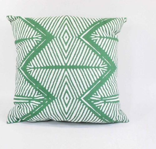 FairForward Kussenhoes 'Tribal' Groen 45x45cm
