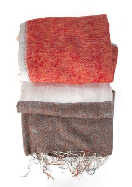 FairForward Plaid Strepen Bruin/Oranje Acryl/Katoen