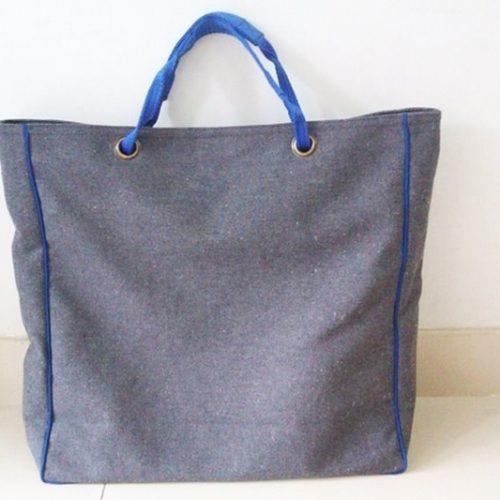 FairForward Shopper Canvas Donker Grijs/Blauw Nylon