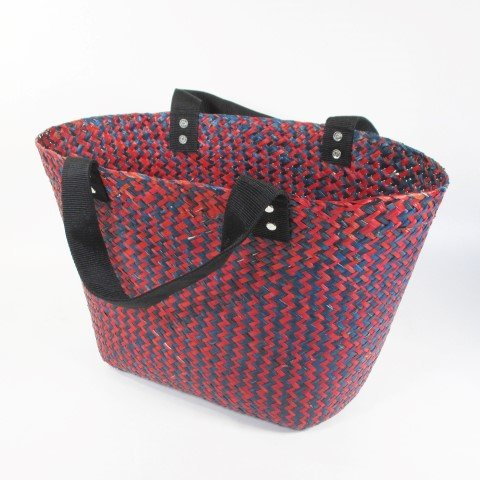 FairForward Shopper blauw/rood zeegras