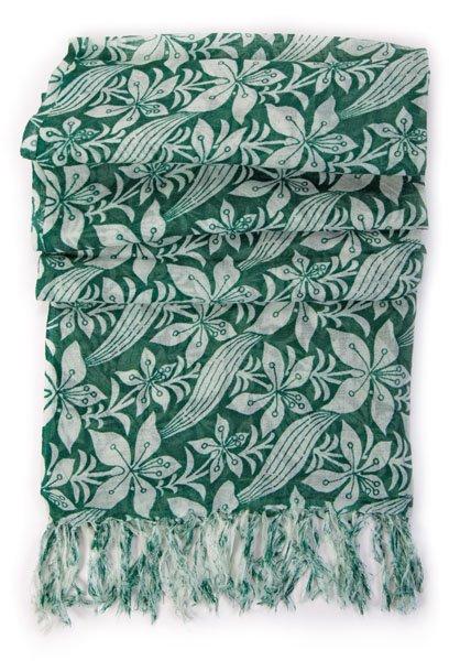 FairForward Sjaal Gr. 'Hibiscus' 100% Wol 50x180cm