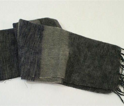 FairForward Sjaal Gs/Zw 30%Kat./70%Acryl 65x180cm