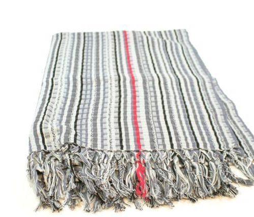 FairForward Sjaal Ikat Grijstinten Katoen 60x200cm