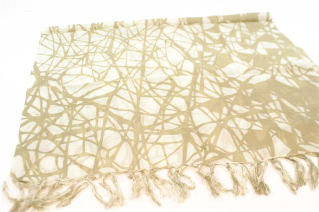 FairForward Sjaal 'Shadow' Creme/Beige Wol 50x180cm