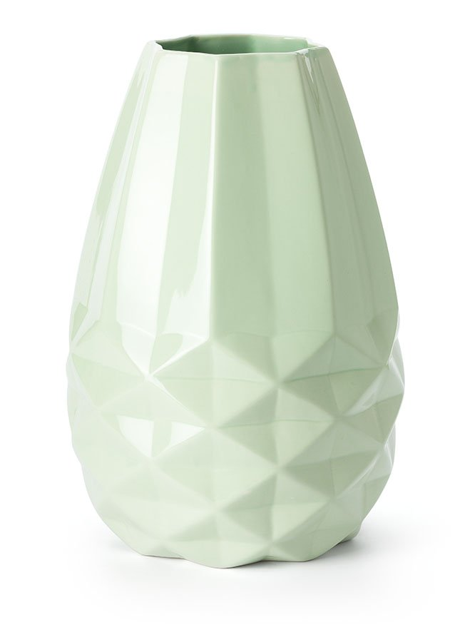 FairForward Vaas L 'Diamant' Mint Groen Keramiek