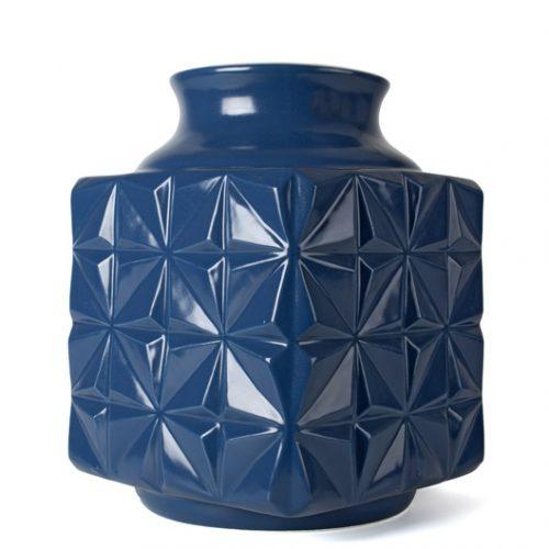 FairForward Vaas 'Suai' 4kant Blauw Keramiek