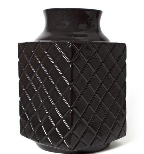 FairForward Vaas 'Suai' 4kant Zwart Keramiek