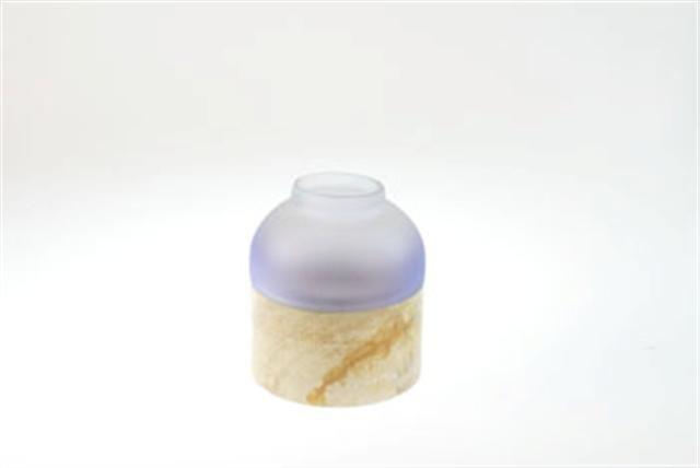 FairForward Waxinehouder Klein Verloop Bl Glas/Ht