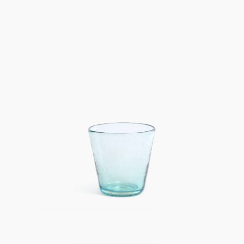 Imperfect design Drink Glas H9xB9cm aqua