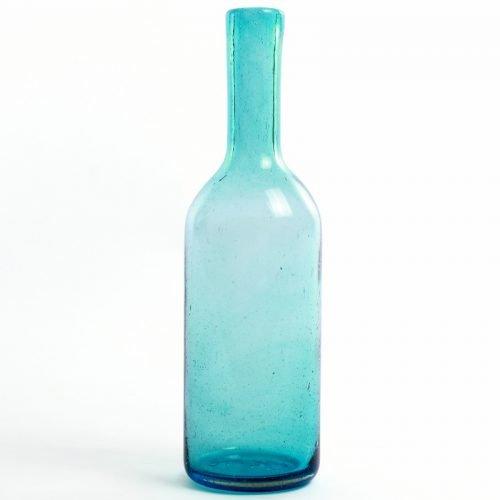 Imperfect design Karaf Glas H35xB10cm aqua
