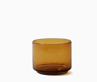 Imperfect design Kom Glas recht H10xB13cm amber