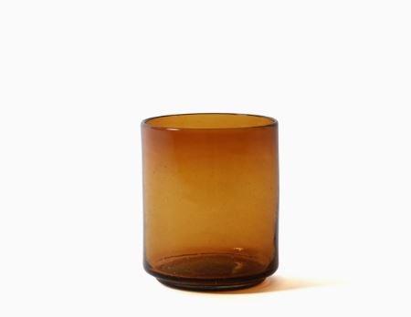 Imperfect design Kom Glas recht H15xB13cm amber