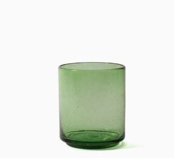 Imperfect design Kom Glas recht H15xB13cm green