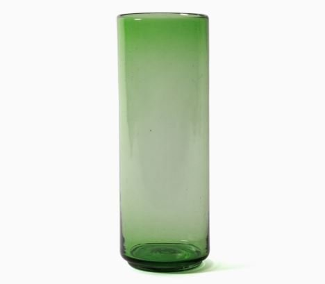 Imperfect design Kom Glas recht H35xB13cm green
