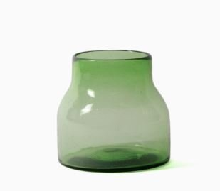 Imperfect design Kom Glas rond H15xB16cm green