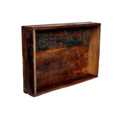 Eco Collection Bakje Scrapwood (Groot) 45x30x8