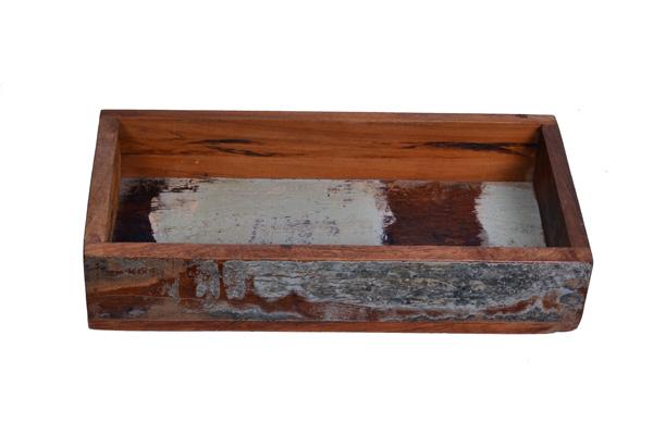 Eco Collection Bakje Scrapwood (Middel) 30x15x8
