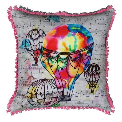 Eco Collection Kussen Luchtballon Kleur 45x45cm