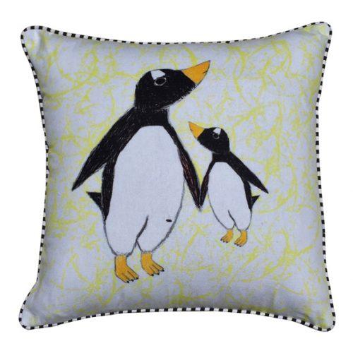 Eco Collection Kussen Pinguin Klein/Groot 45x45cm