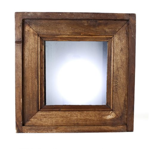 Eco Collection Spiegel Vierkant Houtframe 35x35