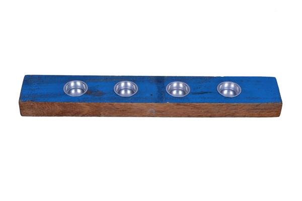Eco Collection Waxinelichthouder Voor 4 Stuks 50x10x3