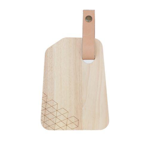 Eco Design Snijplank 15*20-Met Leerband-Oblique