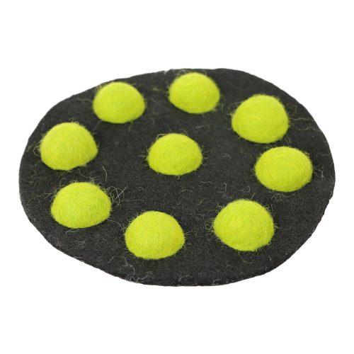 FairForward Felt Coasters black/Green