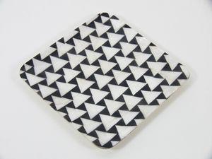 Kinta Bord Cap 13.5x13.5cm Hidden Triangels Zwart