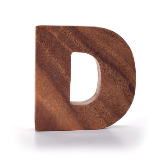 Kinta Letter D Acacia 10cm