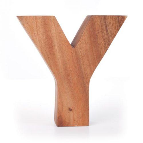 Kinta Letter Y Acacia 15cm