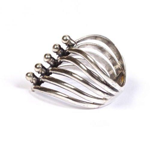 Madat Nepal Ring Zilver 16mm Els Ball