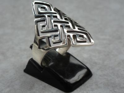 Madat Nepal Ring Zilver 20mm Knot Flat/Endless