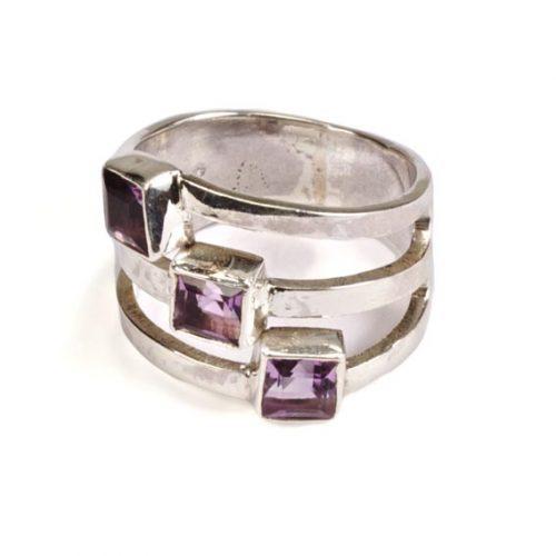 Madat Nepal Ring Zilver 20mm Moon