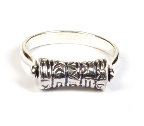 Madat Nepal Ring Zilver 21mm Prayer Wheel