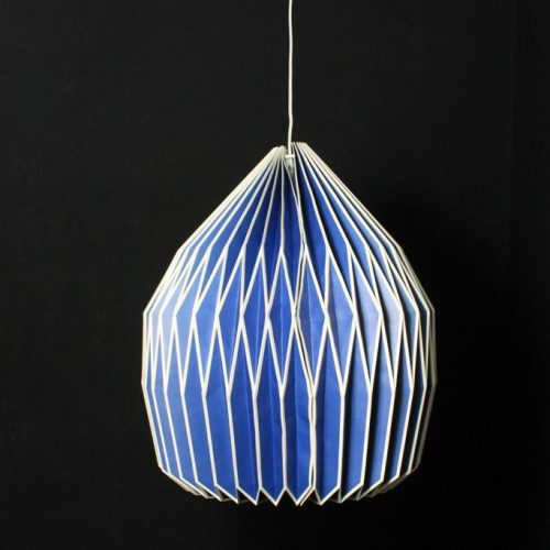 Only Natural Lamp Papier Blauw 41.5x33.6