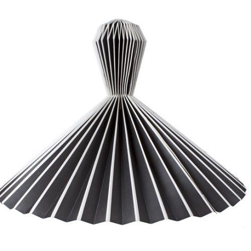 Only Natural Lamp Papier Hangend Zwart Met Wt Randen 42.5x53.75cm