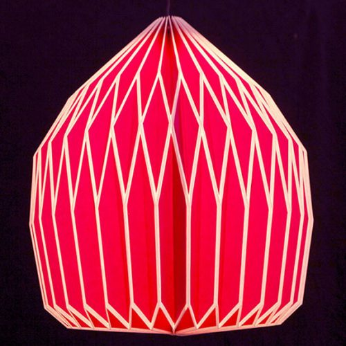 Only Natural Lamp Papier Rose 41.5x33.6