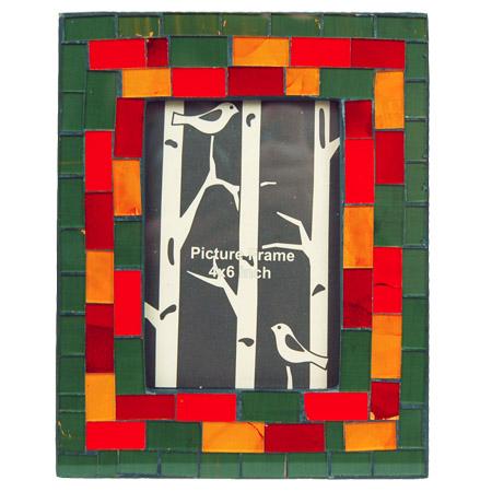 Sarana Fotolijst Mozaiek Rood/Geel S H19cm B 15cm