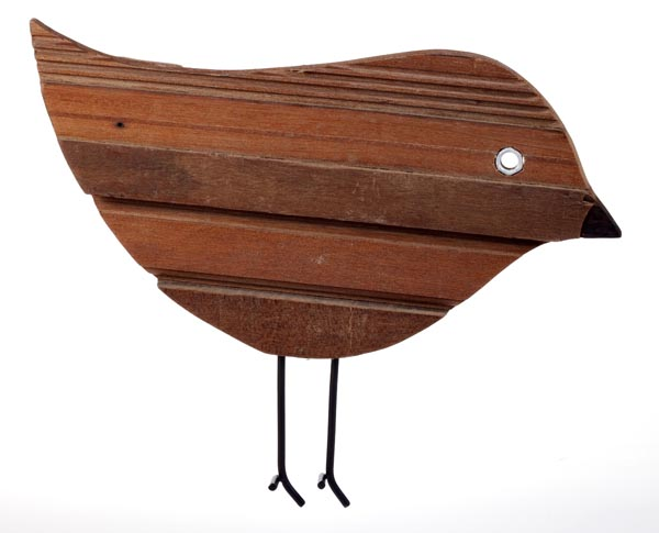 Sarana Wall Deco Bird A Recycle Wood