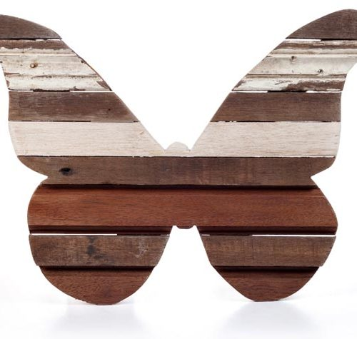 Sarana Wall Deco Butterfly Recycle Wood