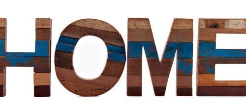 Sarana Wall Deco Recycle Wood Home