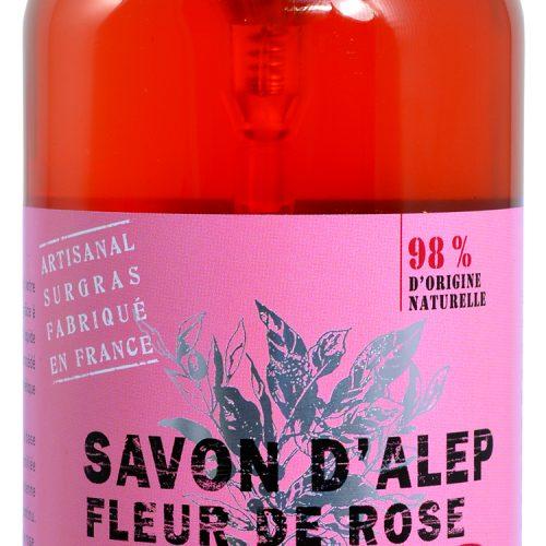 Savon de Provence Savon d'Alep Liquide Fleur de Rose 500ml